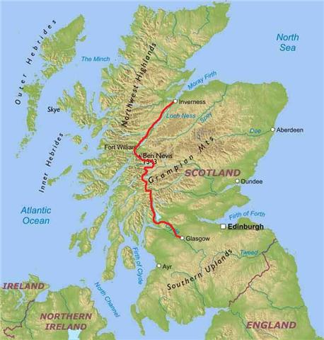 west highland way cycling route