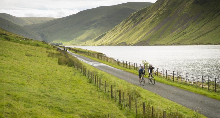 road biking route lake district